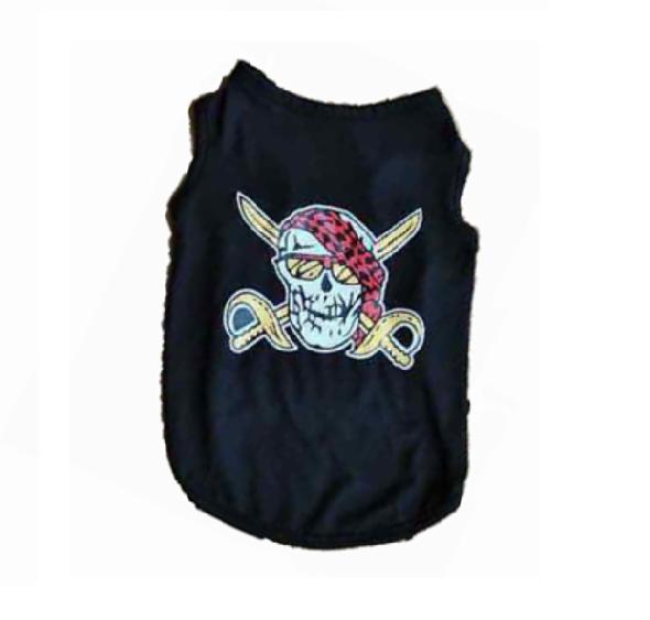 Тениска за куче пират - М
