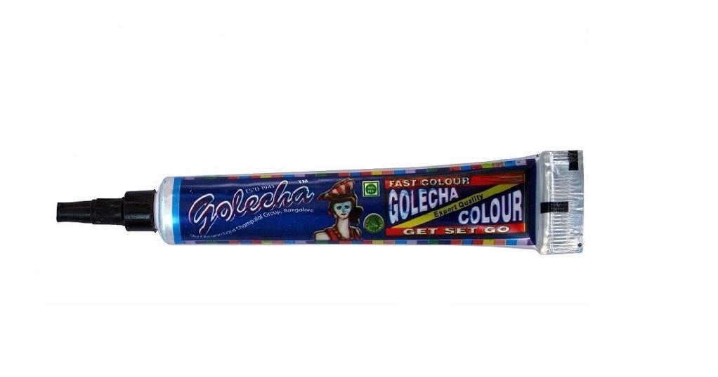Цветна къна за боди арт - туба - синя
