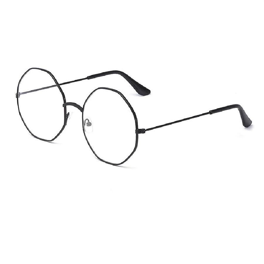Черни осмоъгълни очила октагон