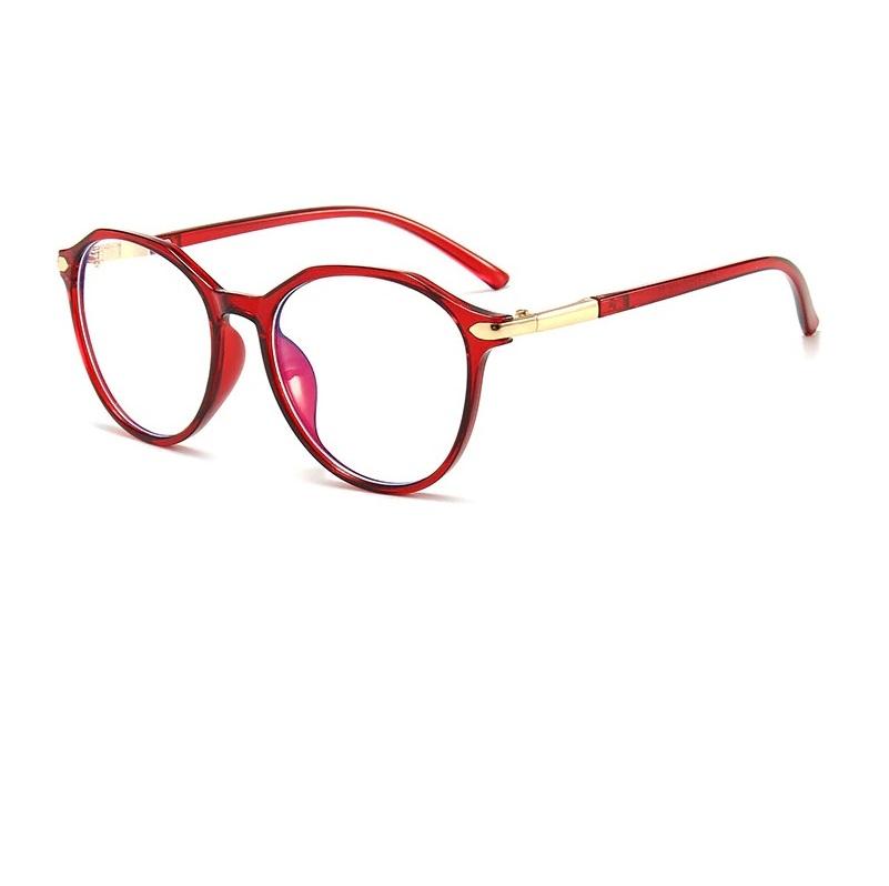 Червени очила без диоптър за компютър