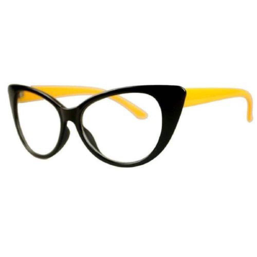 Жълто черни котешки очила