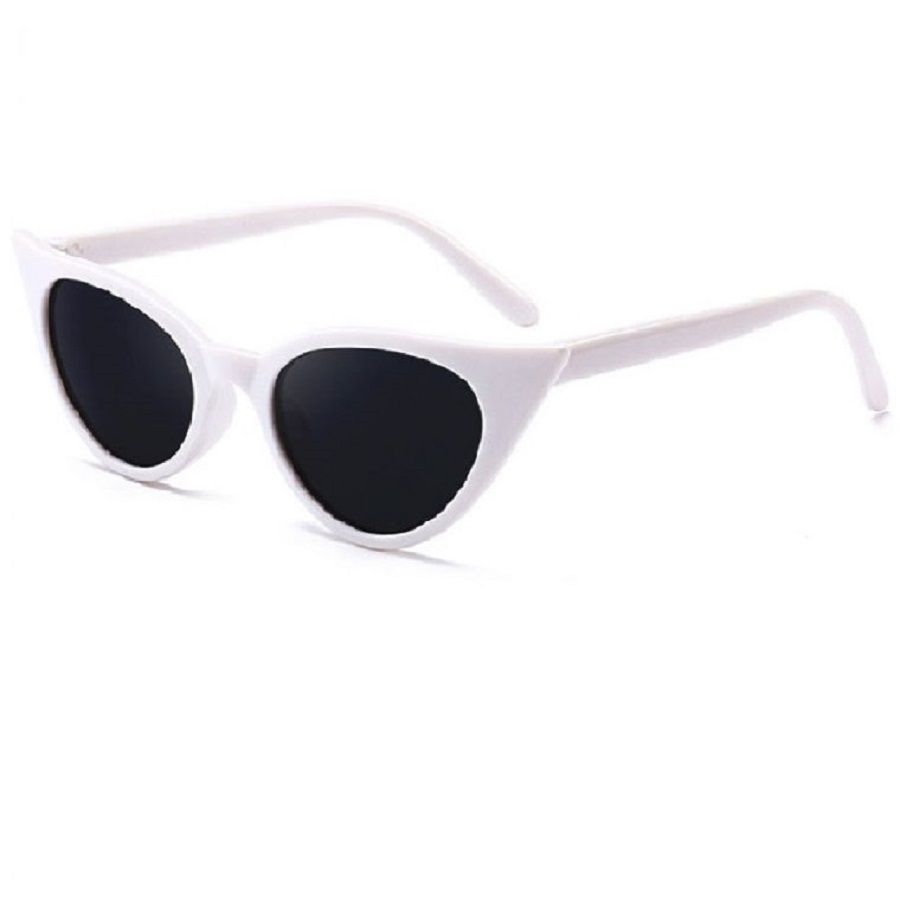 Котешки бели слънчеви очила
