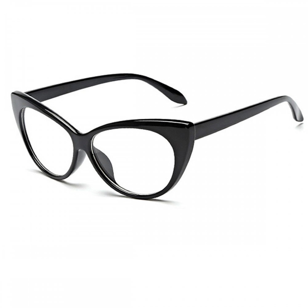Котешки очила с черни рамки