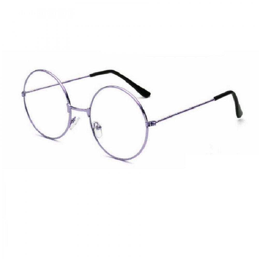 Кръгли очила лилава рамка