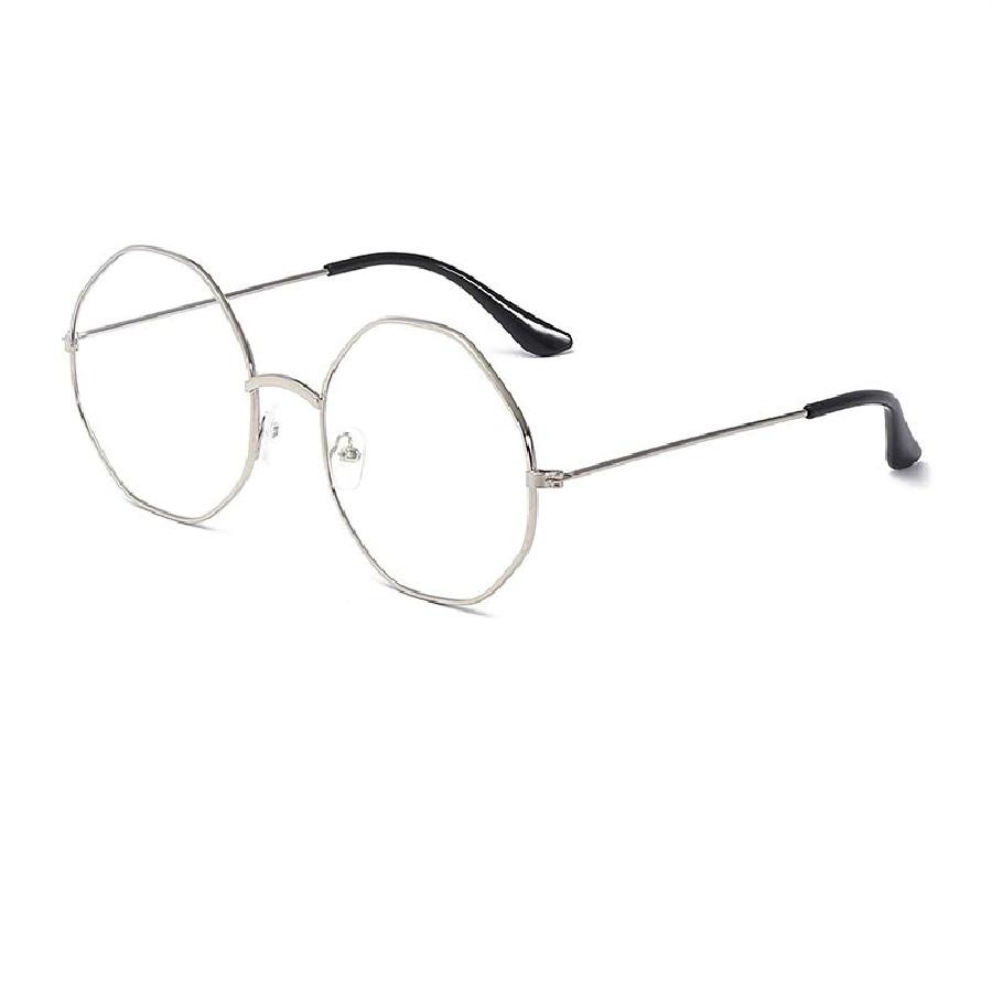 Универсални стилни прозрачни октагон очила в бяло