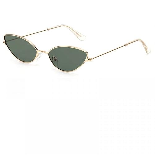 Котешки маслено зелени стъкла слънчеви очила