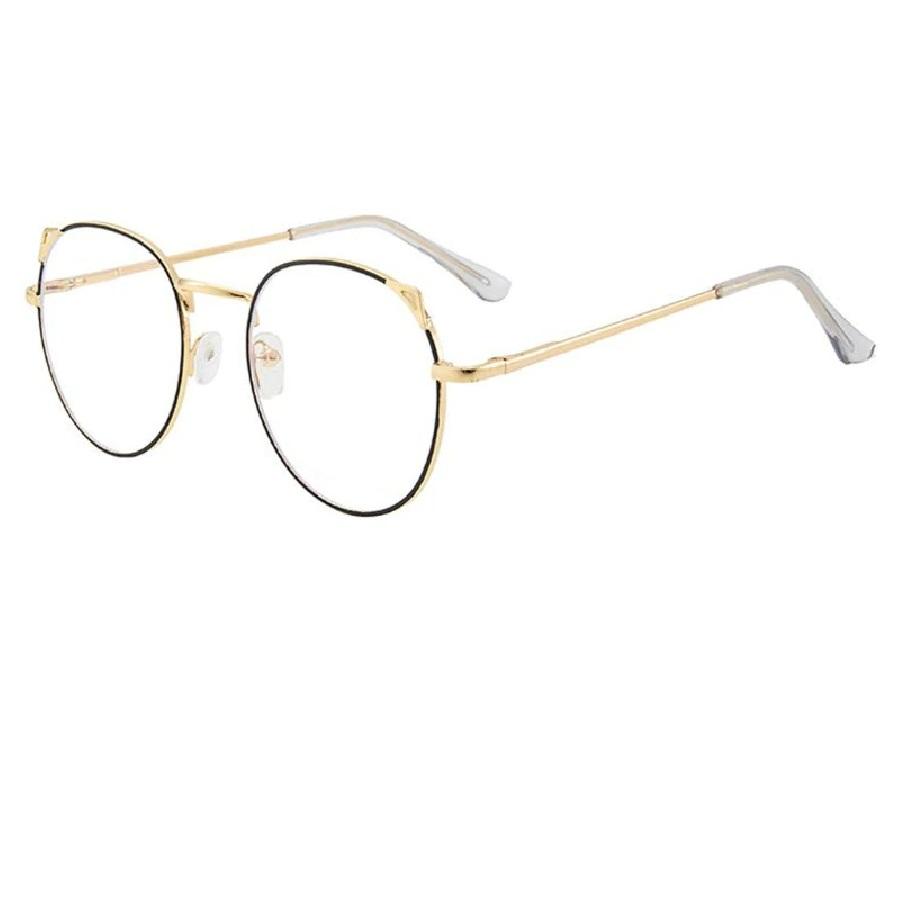 Очила с метална рамка извити котешки очи