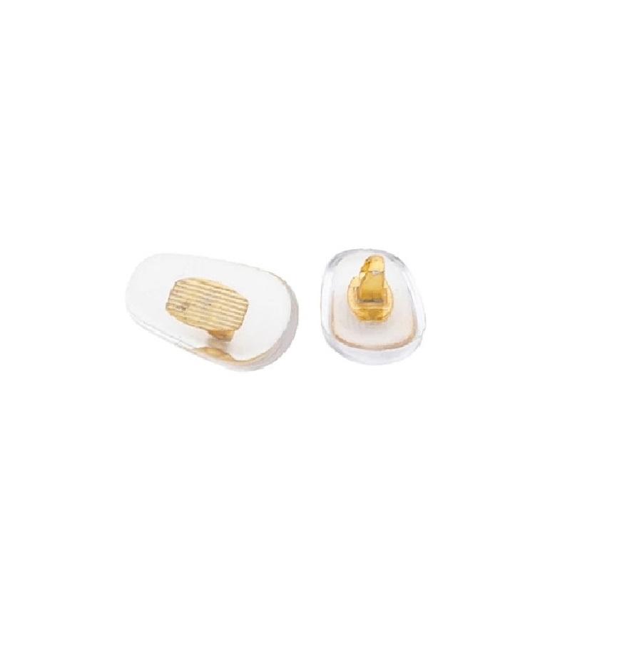Гумички за очила силикон с жълт метал