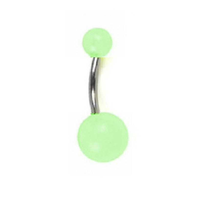Светеща зелена обица за пъпа