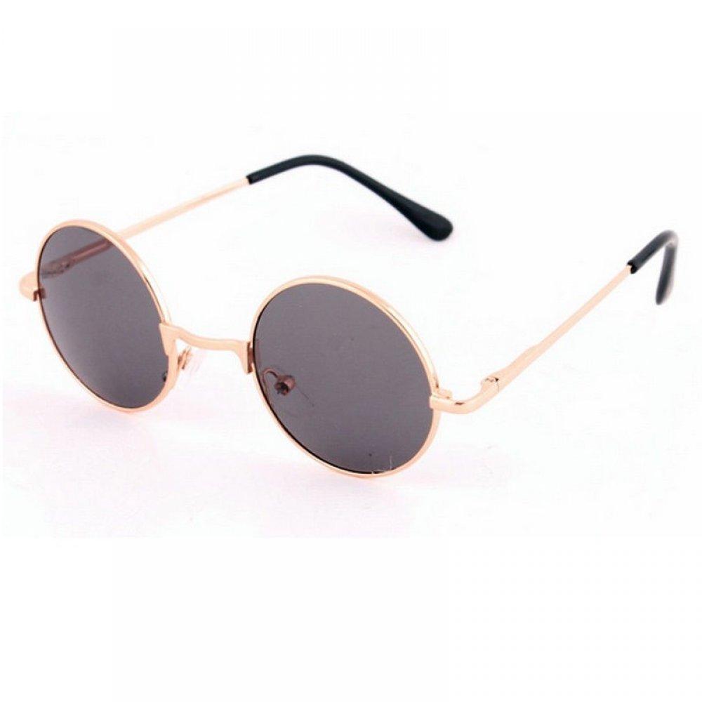 Кафяви кръгли очила