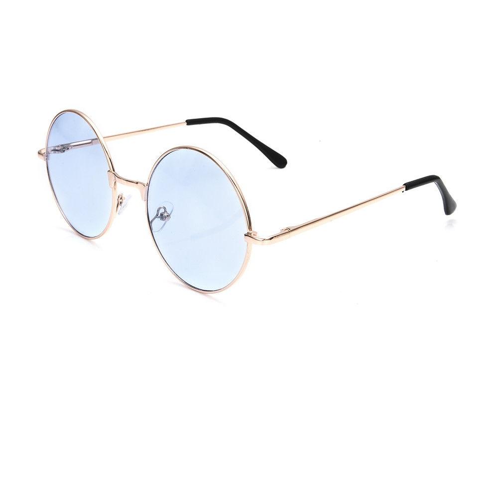 Кръгли очила със сини стъкла