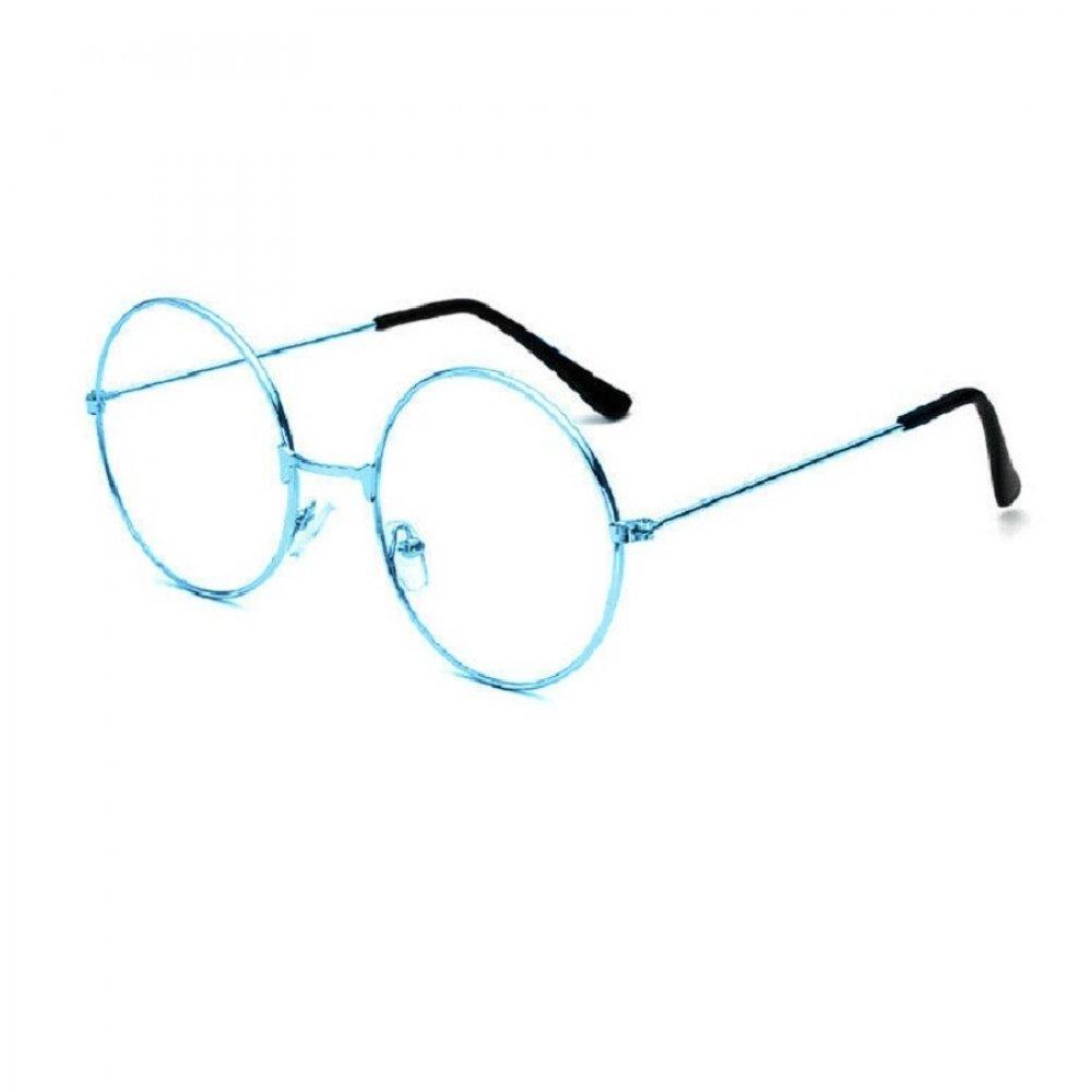 Кръгли очила синя рамка