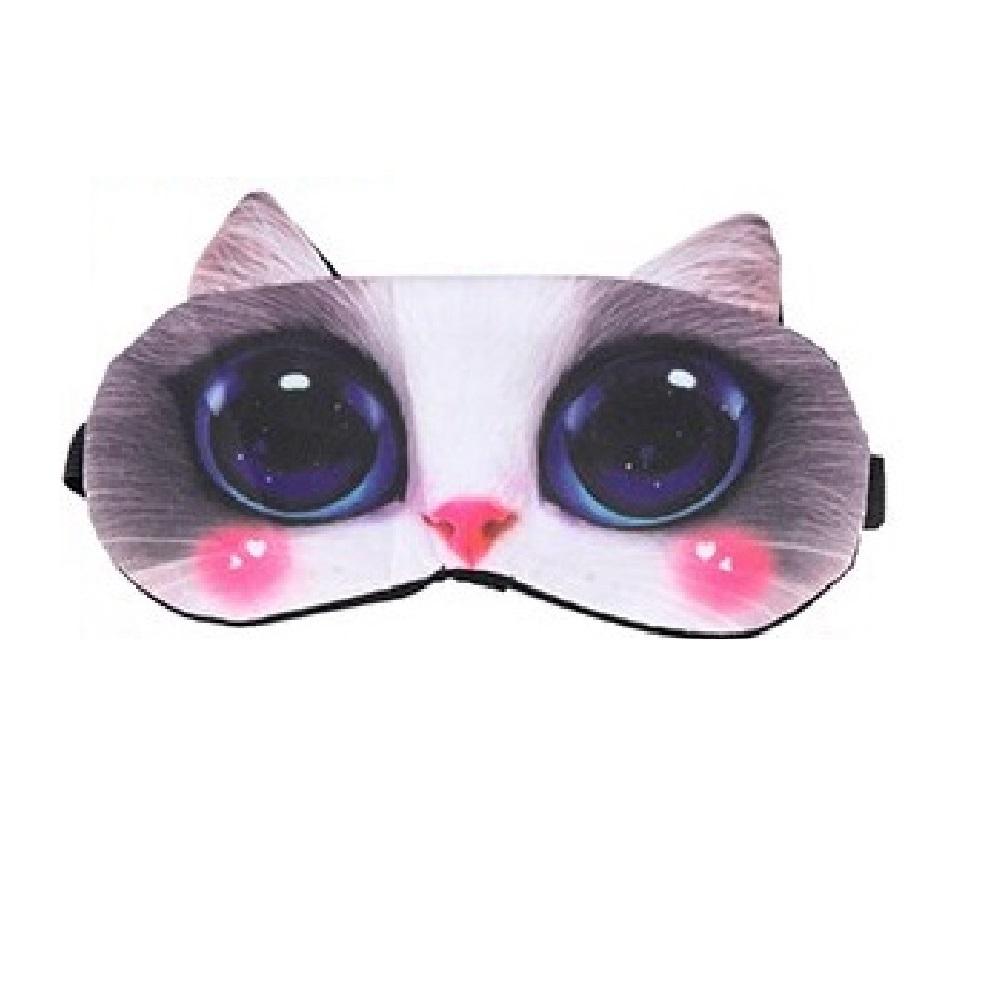 Плътна маска за спане с котка