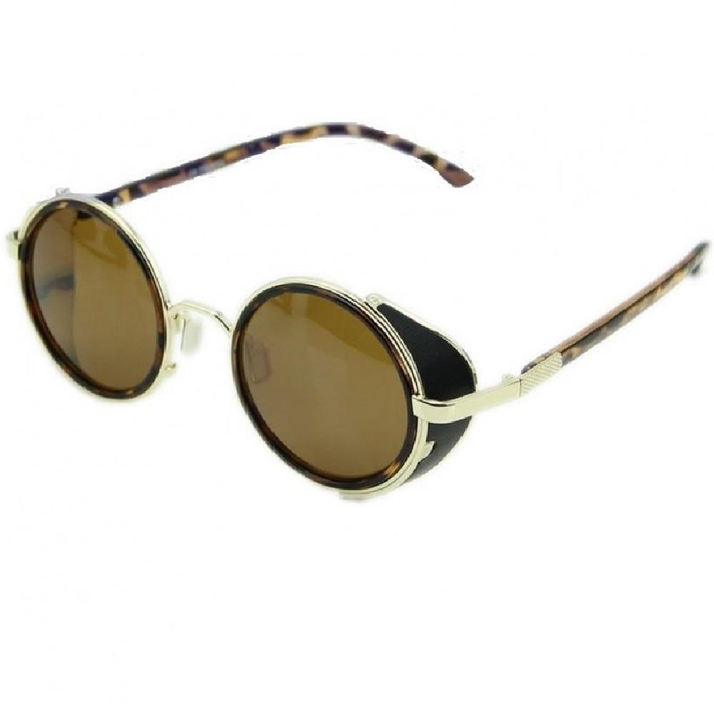Слънчеви очила кафяви с капаци