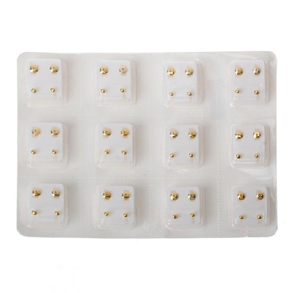 Стерилни обеци медицинско злато 12 кутии