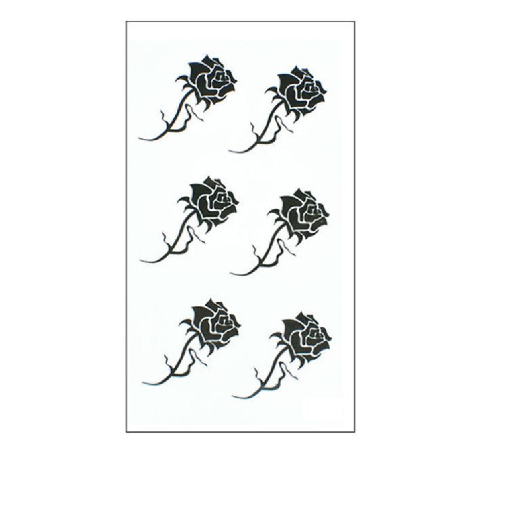6 рози временни татуировки