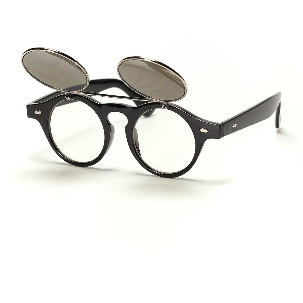 Кръгли слънчеви очила с вдигаща се предна част