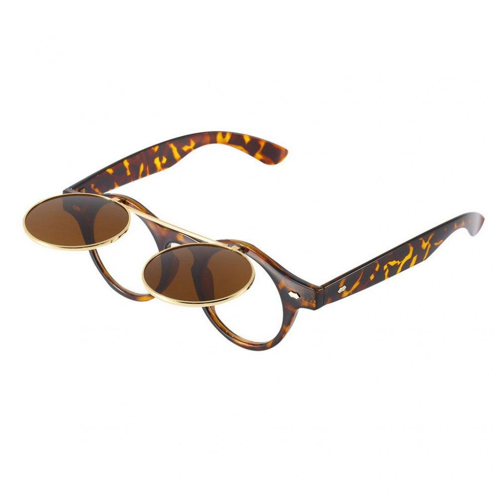 Слънчеви кръгли очила с вдигаща се предна част