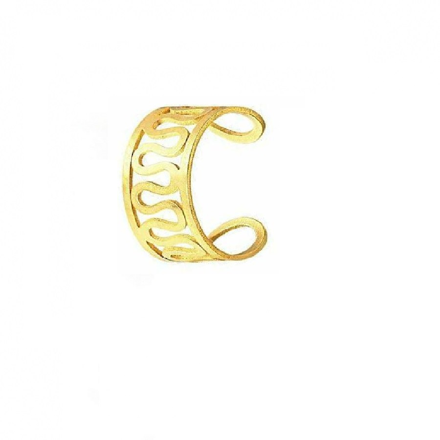 Златна метална пластина за ухо