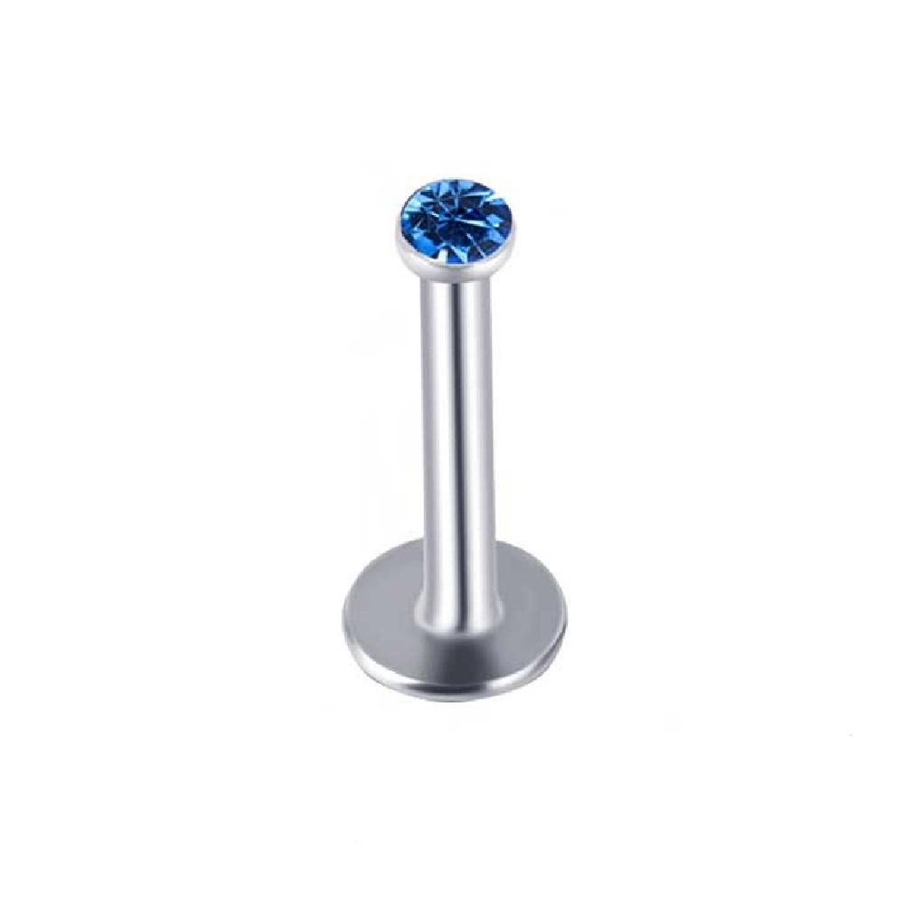 Кралско син цвят обица с кристал