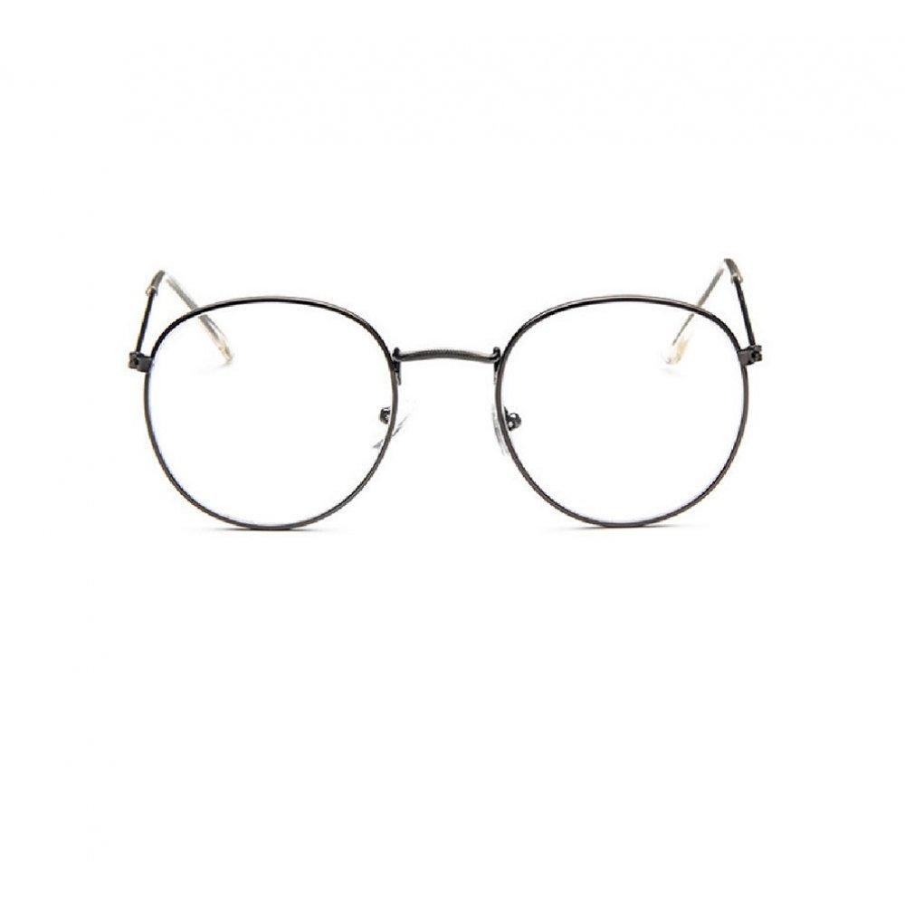 Прозрачни овални очила сиви рамки