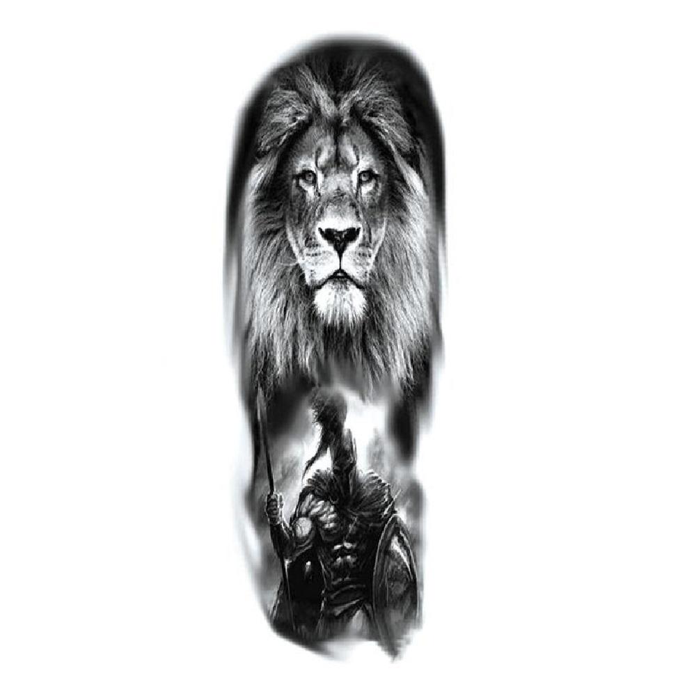 Временна татуировка с лъв