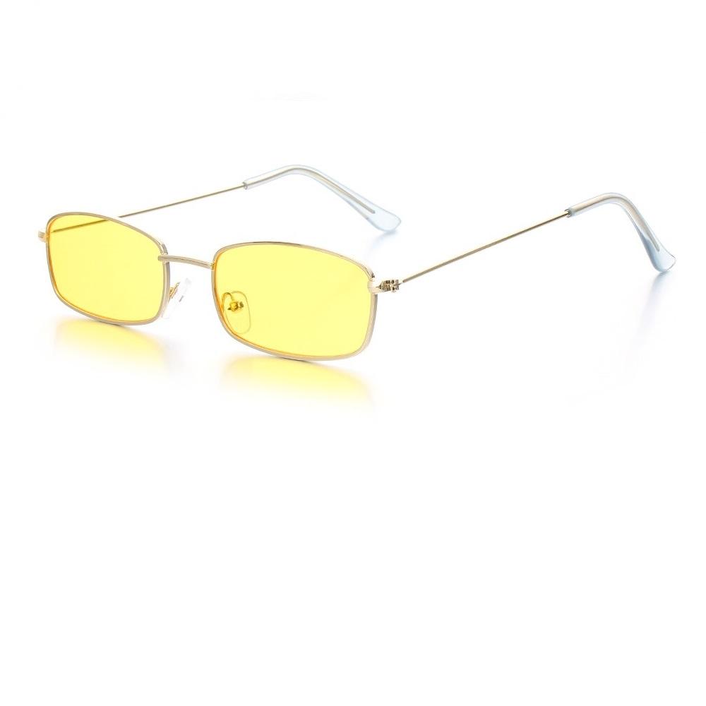 Жълти правоъгълни очила