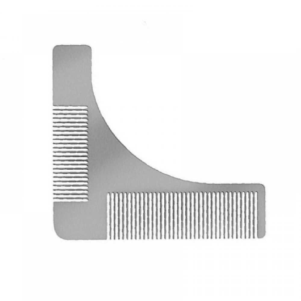 Бял стоманен гребен шаблон за брада