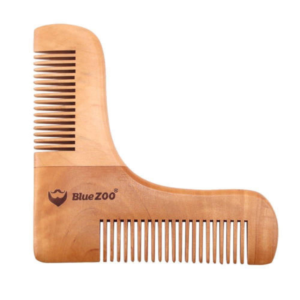 Дървен гребен шаблон за брада