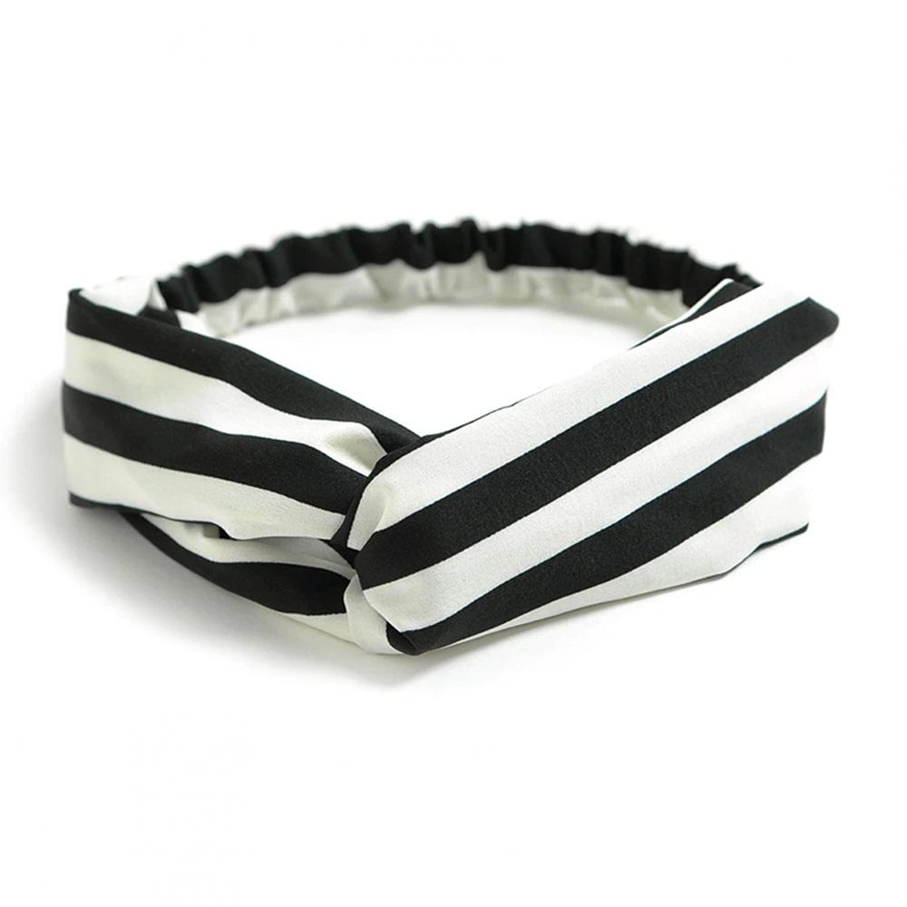 Лента за коса бяло и черно