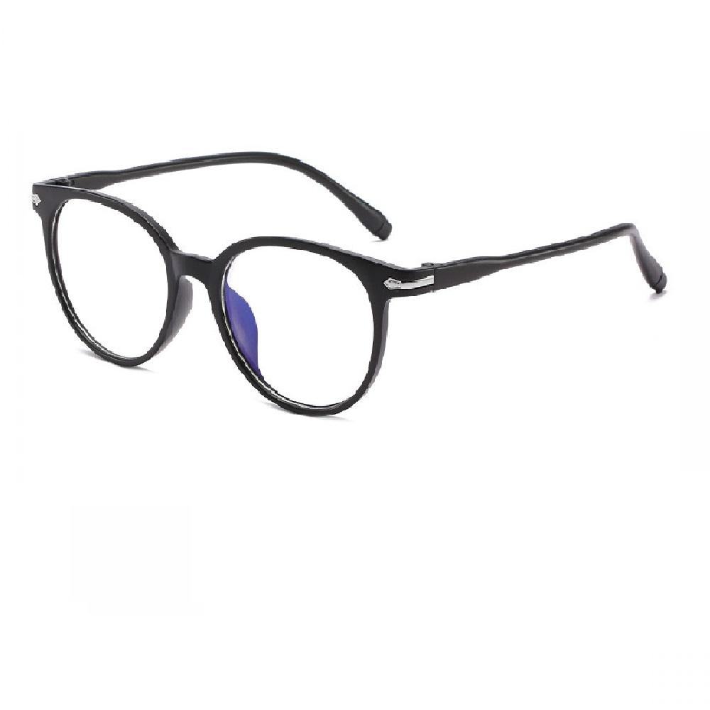 Прозрачни очила черна рамка с орнаменти
