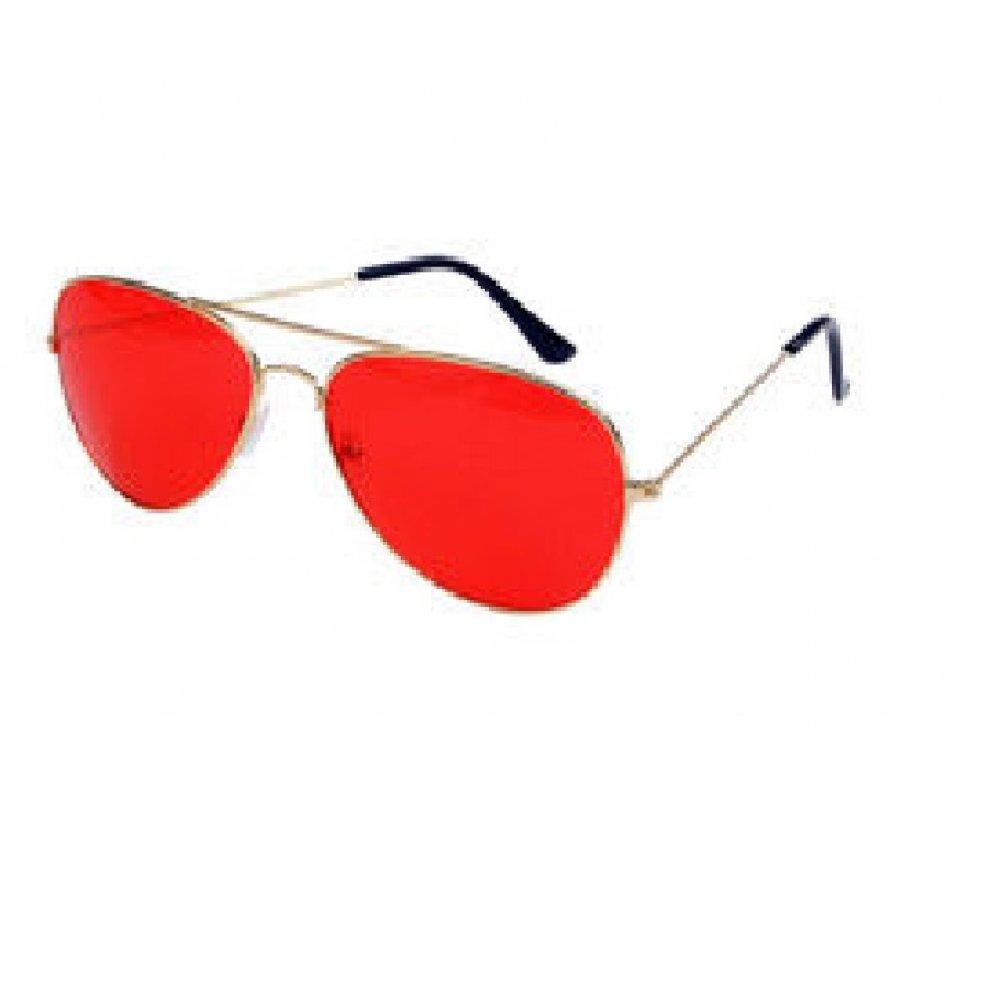 Авиаторски очила с червени стъкла