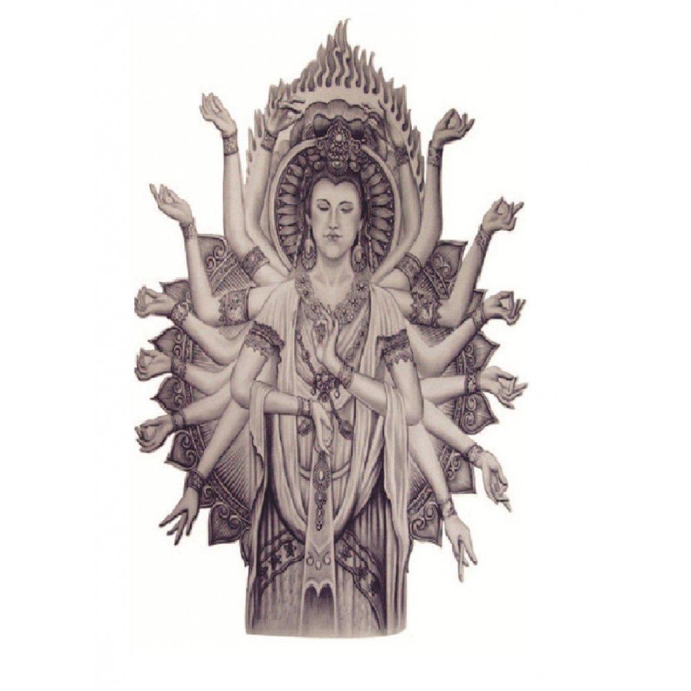 Бодхисатва, временна татуировка
