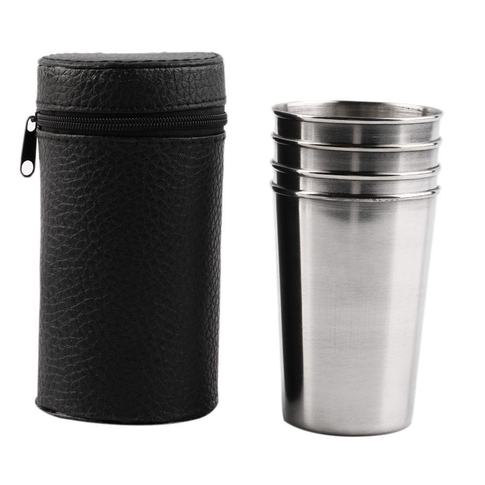 Чаши с кожен калъф  180 милилитра