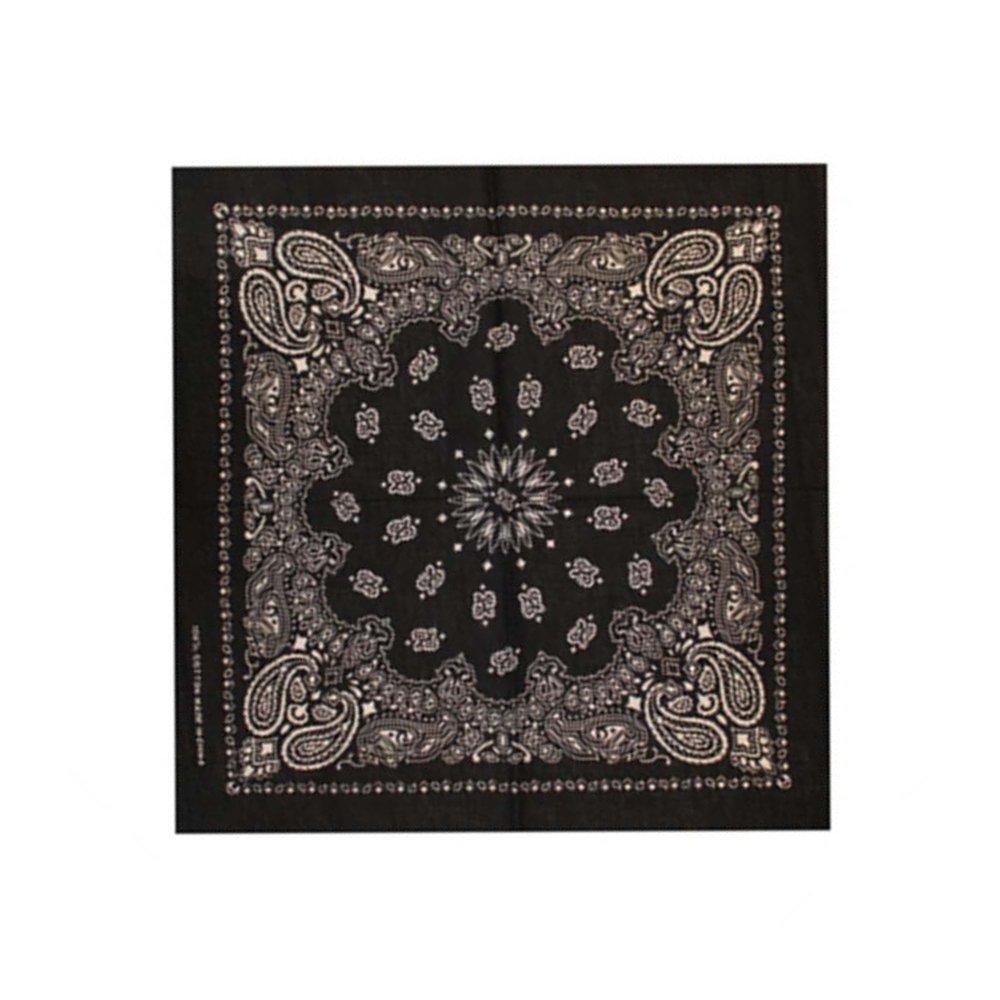 Черна кърпа с орнаменти