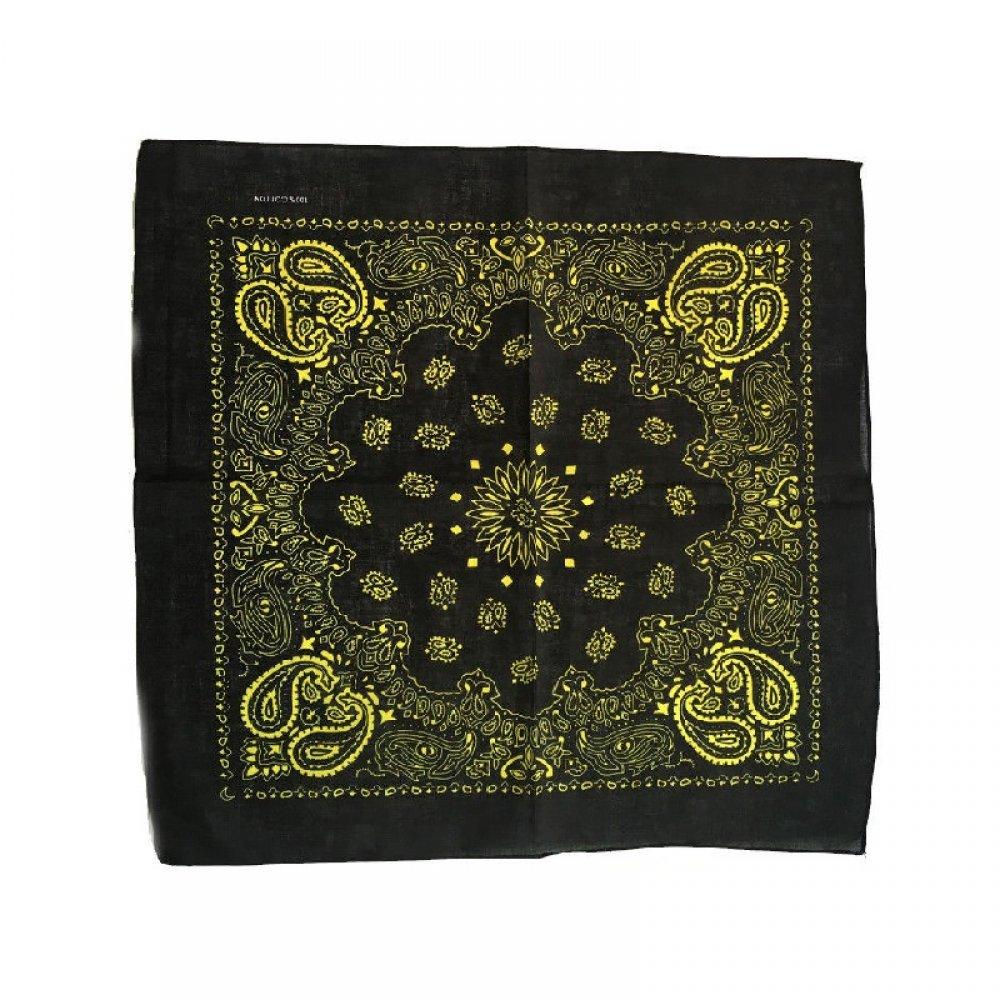 Черна кърпа с жълти орнаменти