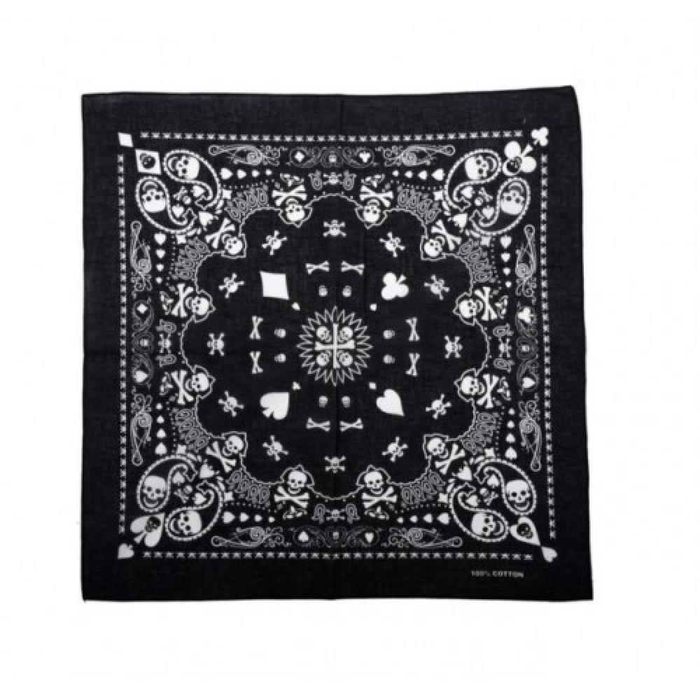Черна, рокерска кърпа за глава
