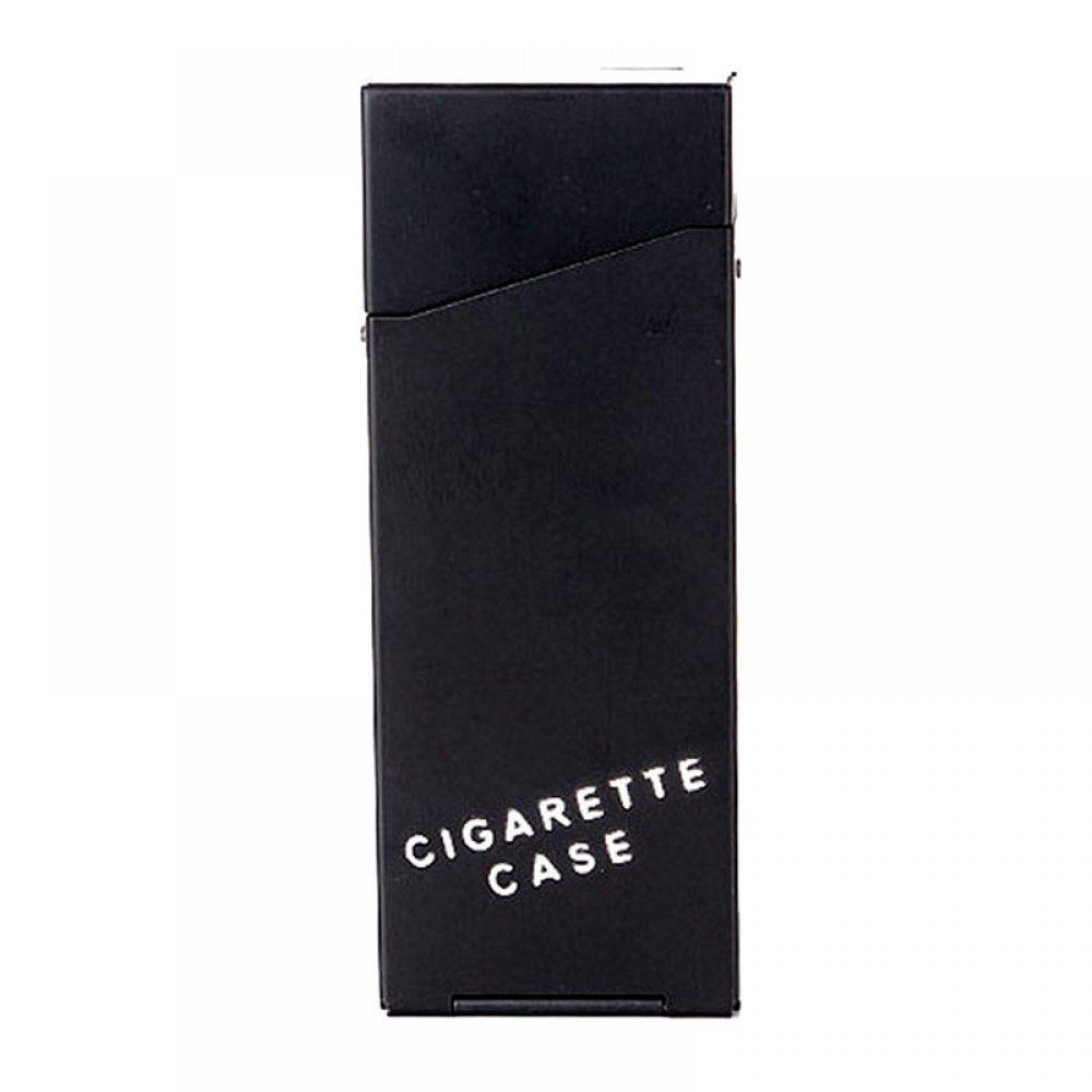 Черна табакера за тънки цигари