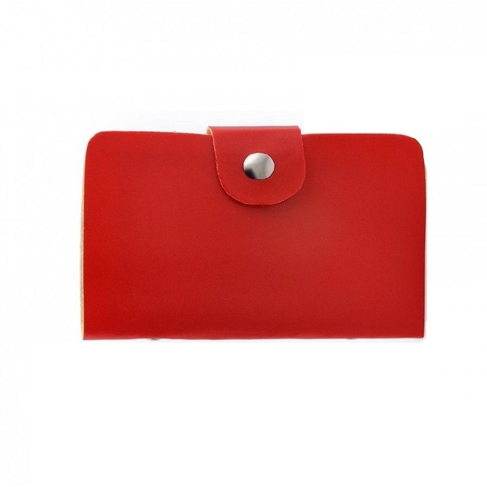 Червен калъф за 24 кредитни карти