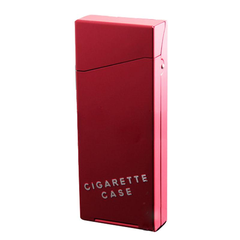Червена табакера за слим цигари