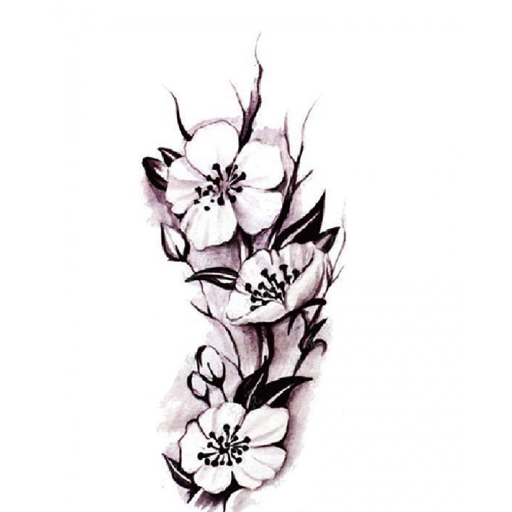 Дамска временна татуировка с цветя