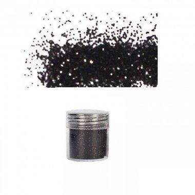 Брокат с пайети в черно