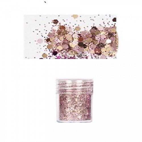 Брокат с пайети в златно розово
