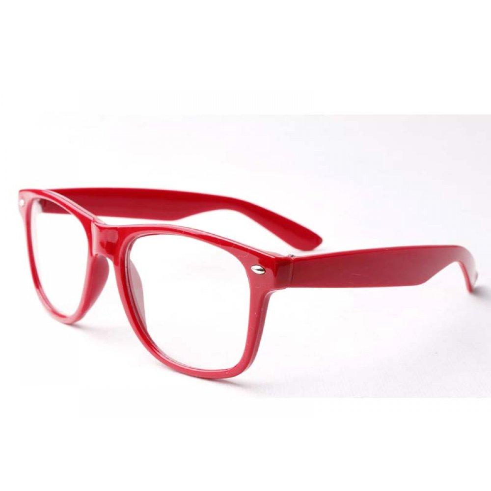 Детски очила без стъкла червена рамка