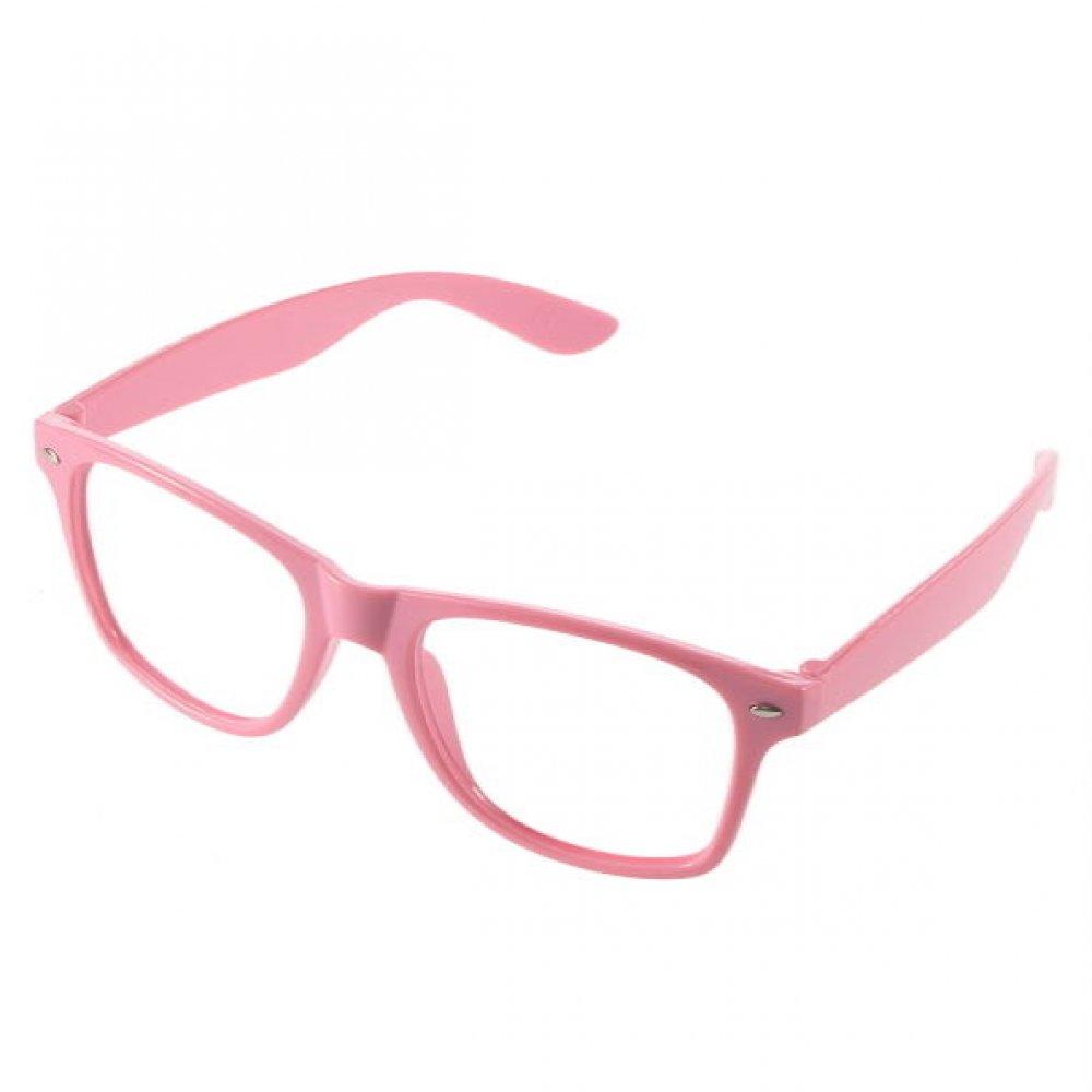 Детски очила без стъкла розова рамка