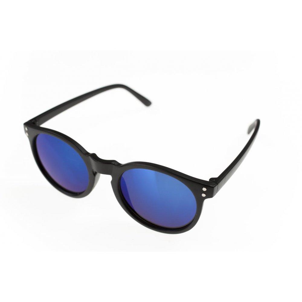 Детски очила с черни рамки и огледални стъкла
