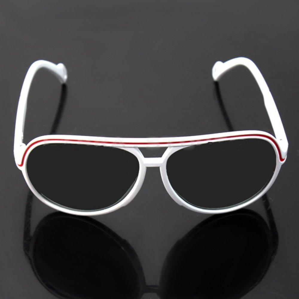 Детски слънчеви очила плътно черни бяла рамка
