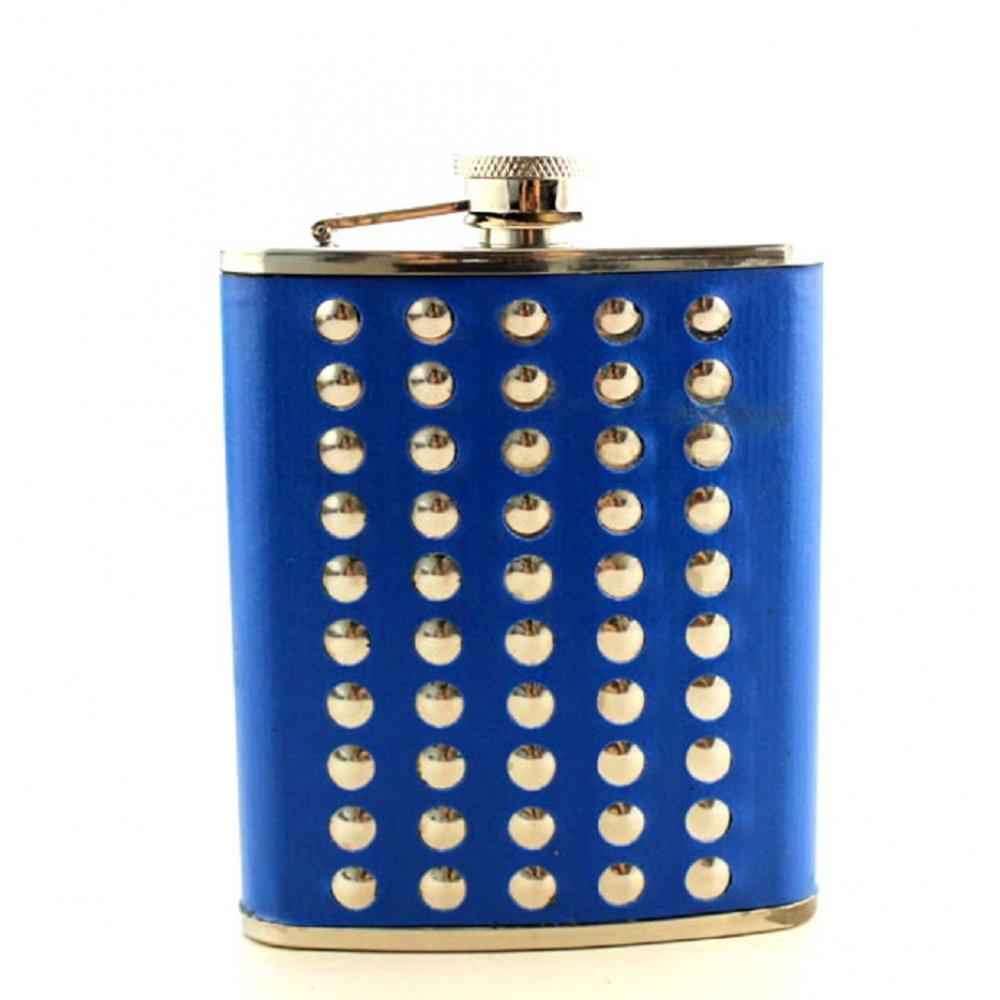 Джобно шише в синя кожа