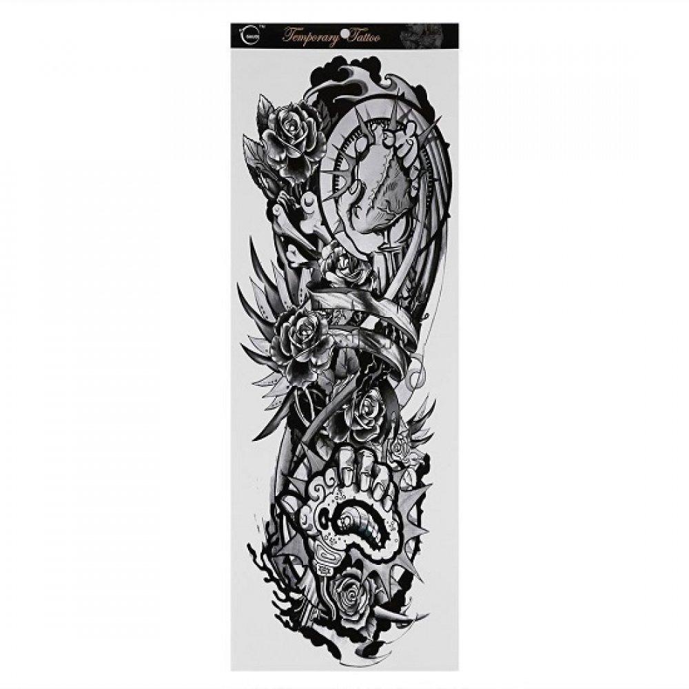 Голям размер временна татуировка 46 сантиметра