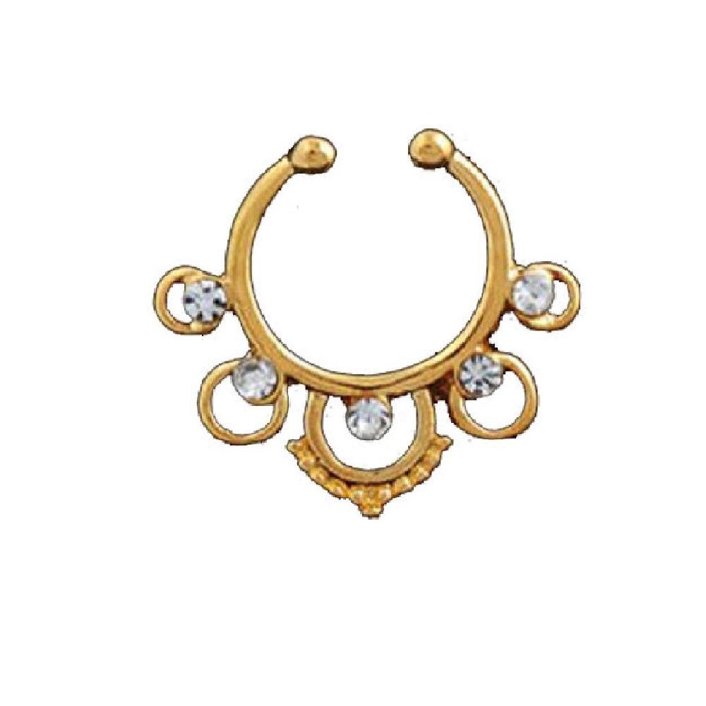 Индийски стил обеци за носа имитация на злато